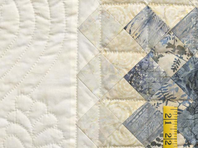 Blue Navy and Cream Boston Commons Quilt Photo 6