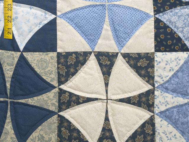 Blue Golden Tan and Brown Winding Ways Quilt Photo 6