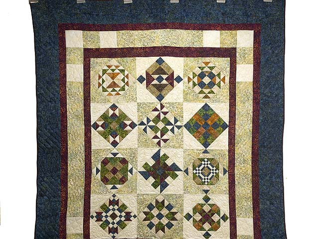 Full Size Batik Patchwork Sampler Quilt Photo 2