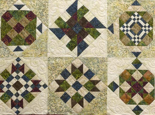 Full Size Batik Patchwork Sampler Quilt Photo 4