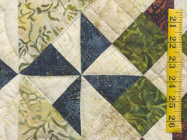 Full Size Batik Patchwork Sampler Quilt Photo 6