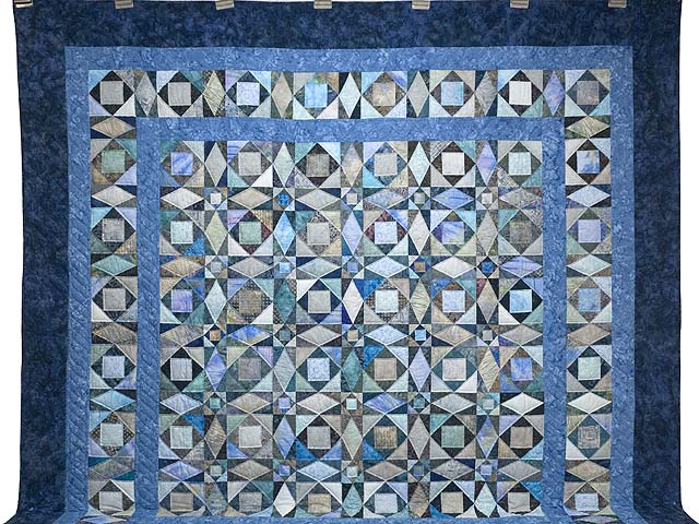 King Watery  Blue Storm at Sea Quilt Photo 2