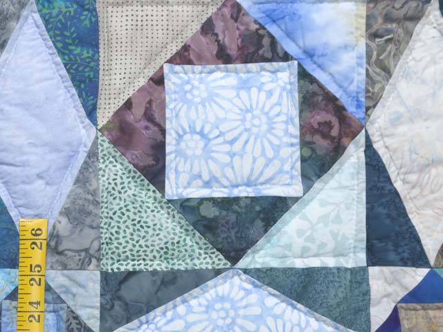 King Watery  Blue Storm at Sea Quilt Photo 5