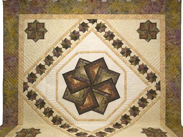 King Hand Painted Star Spin Quilt Photo 2