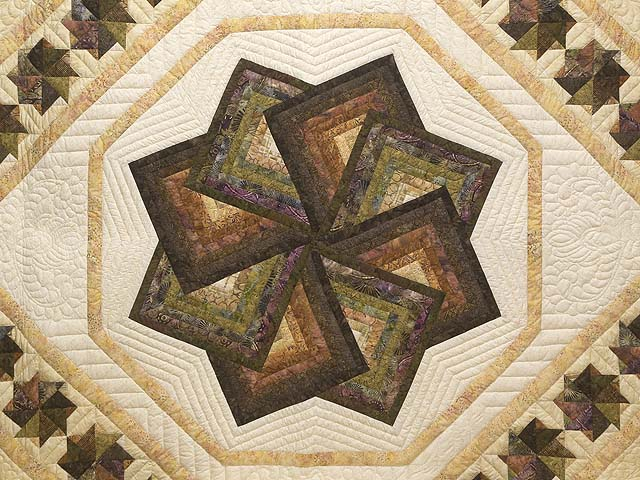 King Hand Painted Star Spin Quilt Photo 3