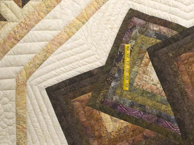 King Hand Painted Star Spin Quilt Photo 4