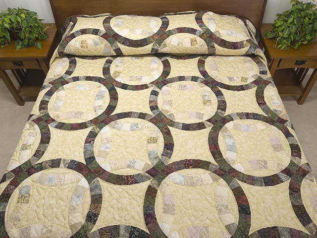 Batik Double Wedding Ring in 
