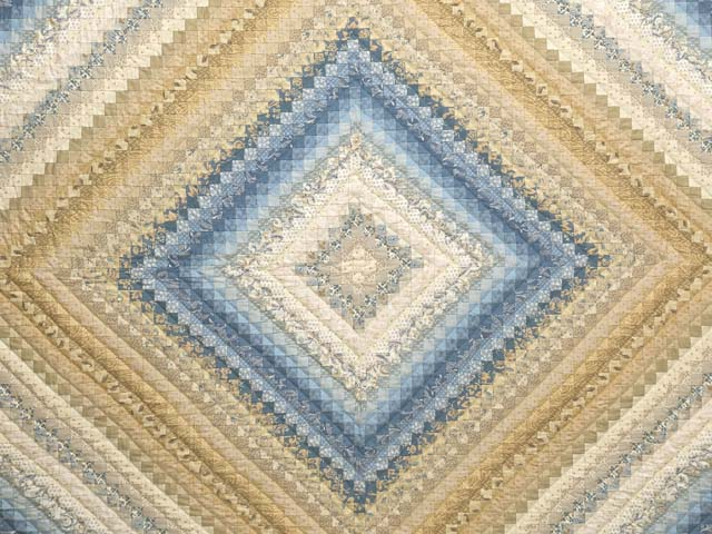 Tan Blue and Cream Postage Stamp Color Splash 