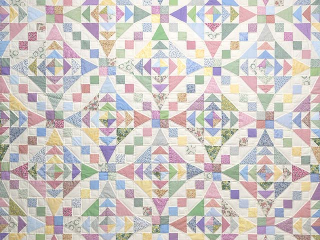 Pastel Faceted Jewel Quilt Photo 3