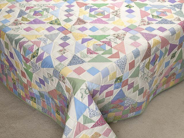Pastel Faceted Jewel Quilt Photo 7