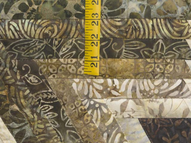 Batik Earthtones Diamond Star Log Cabin  Queen Size Bed Quilt Photo 6