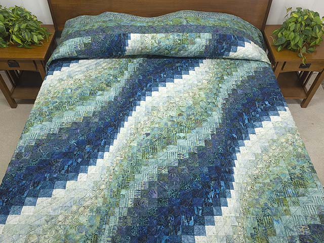 King Ocean Spray Bargello Wave Quilt