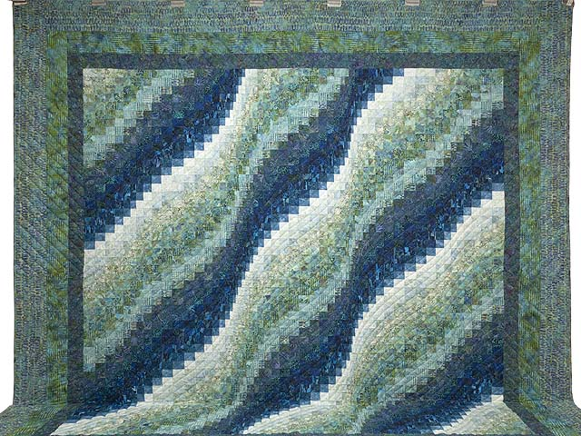 King Ocean Spray Bargello Wave Quilt Photo 2