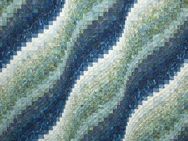 King Ocean Spray Bargello Wave Quilt Photo 3