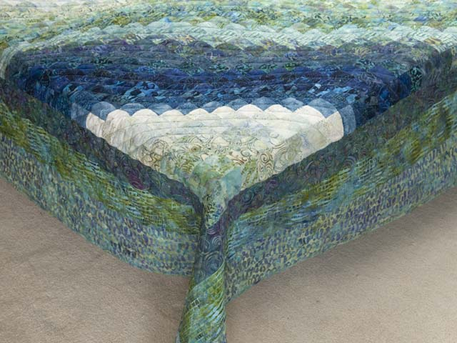 King Ocean Spray Bargello Wave Quilt Photo 7