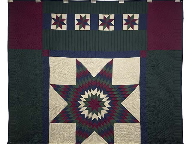 Amish Paper Bag Lone Star Quilt Photo 2