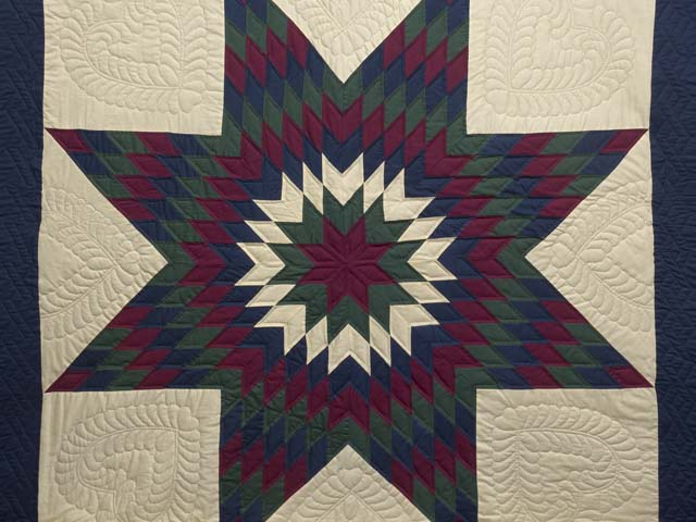Amish Paper Bag Lone Star Quilt Photo 3