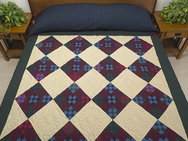Amish Paper Bag Double Nine Patch Quilt Photo 1