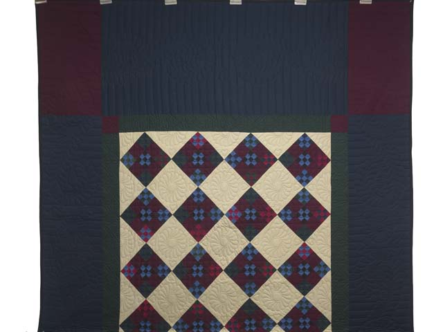Amish Paper Bag Double Nine Patch Quilt Photo 2