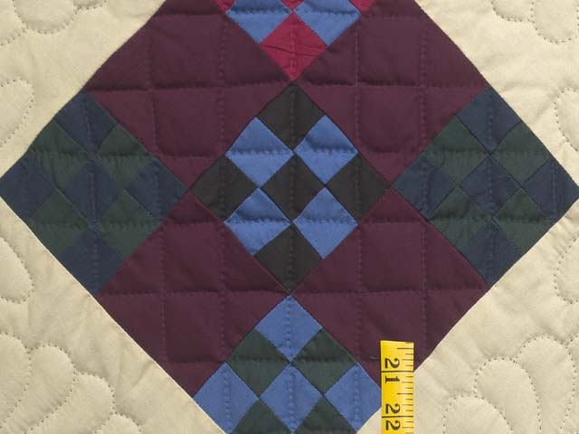 Amish Paper Bag Double Nine Patch Quilt Photo 5