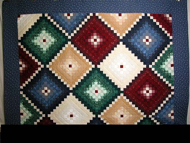 King Blue and Multi Mosaic Quilt Photo 2