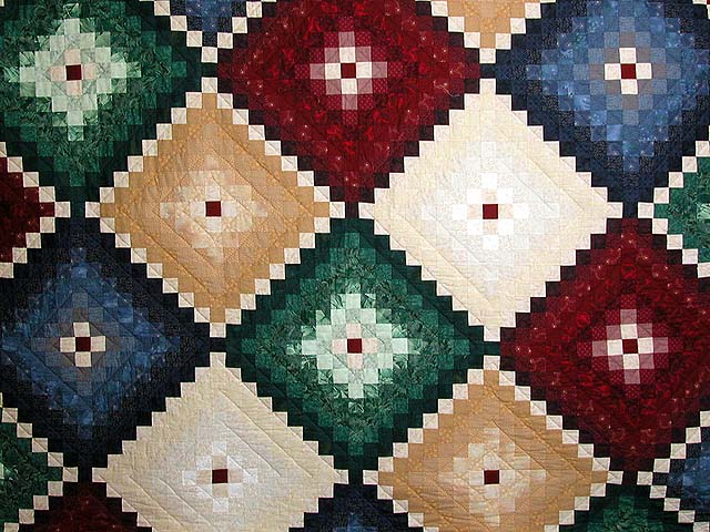 King Blue and Multi Mosaic Quilt Photo 3