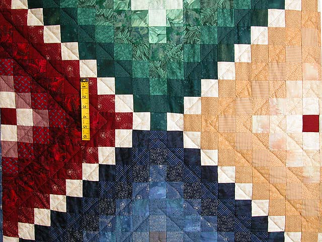 King Blue and Multi Mosaic Quilt Photo 4