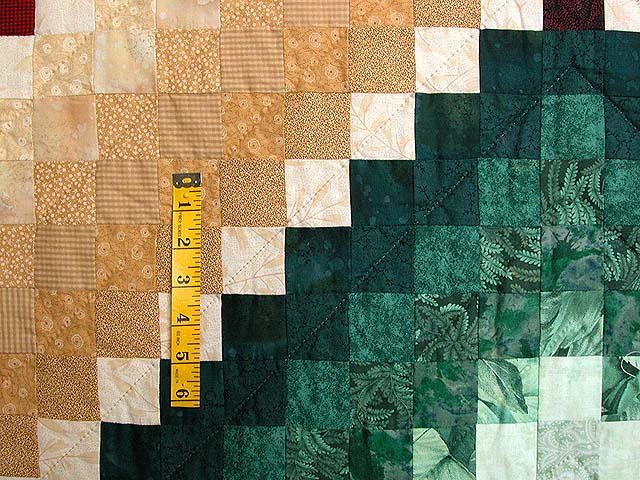 King Blue and Multi Mosaic Quilt Photo 5