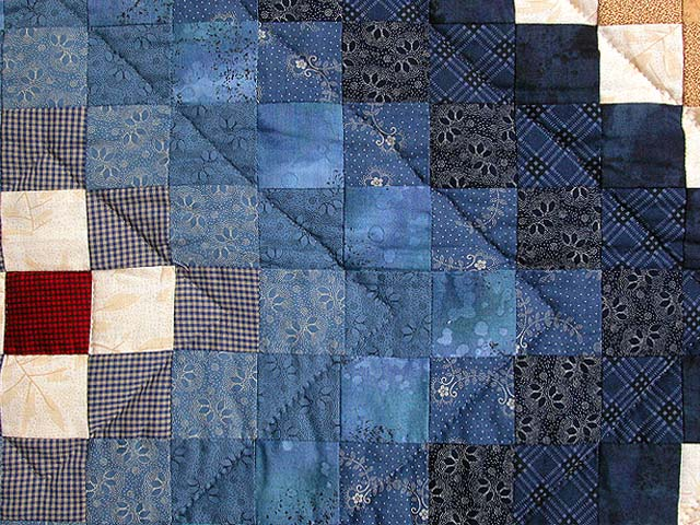 King Blue and Multi Mosaic Quilt Photo 6