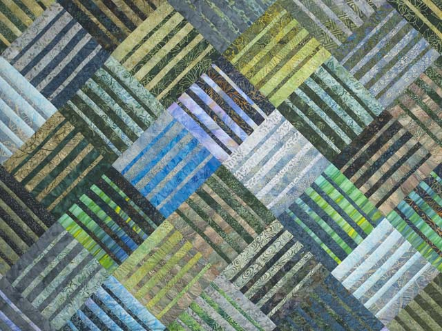 Underwater Blues Quilt -- outstanding adeptly made Amish Quilts ... : batik patchwork quilt - Adamdwight.com