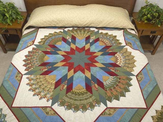 King Multicolor and Golden Tan Bertha Quilt Photo 1