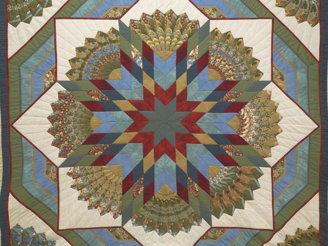 King Multicolor and Golden Tan Bertha Quilt Photo 3