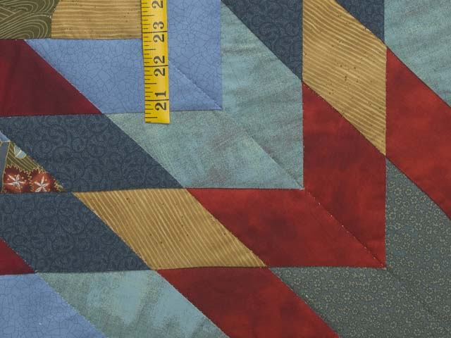 King Multicolor and Golden Tan Bertha Quilt Photo 6