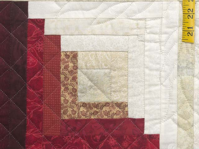 Blues and Reds Log Cabin Variation 
