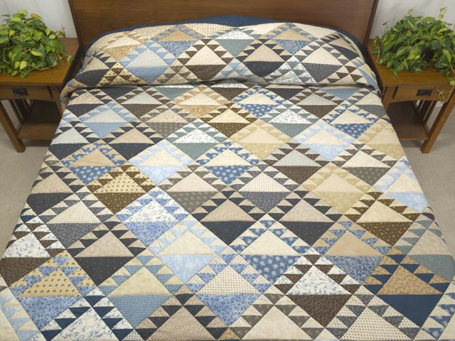 King Blues and Tans Lady of the Lake Quilt Photo 1