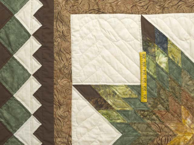 King Gold Green and Brown Star Quest Quilt Photo 4