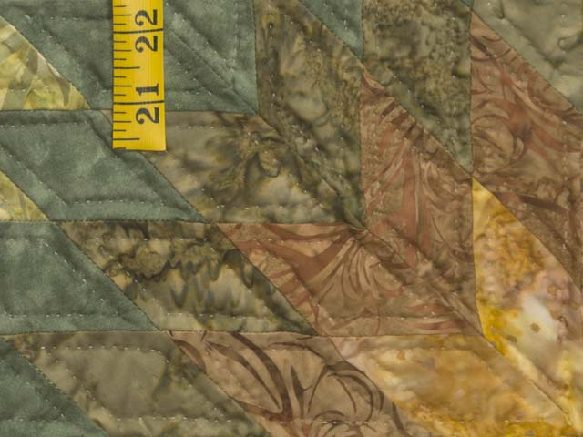 King Gold Green and Brown Star Quest Quilt Photo 5