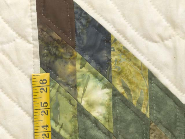 King Gold Green and Brown Star Quest Quilt Photo 6