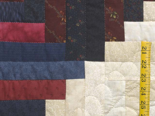 King Navy Burgundy and Cream Captains Quilt Photo 6