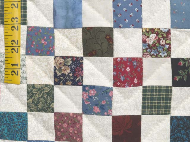 Multicolor Hit or Miss Quilt Photo 6