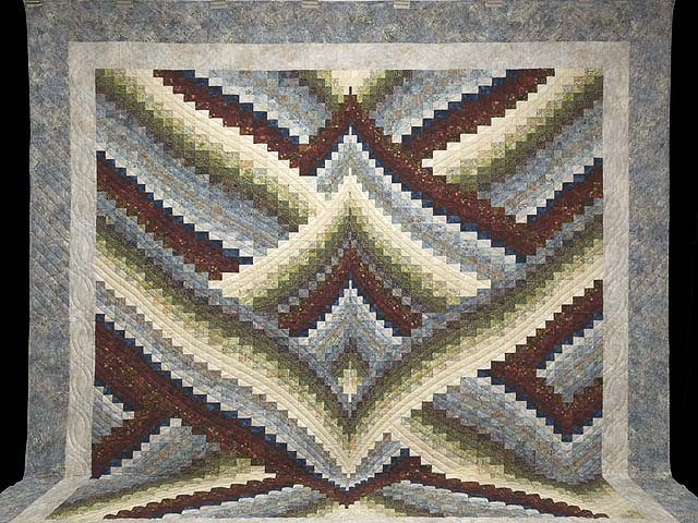 King Hand Painted Lightning Strikes Bargello Quilt Photo 2