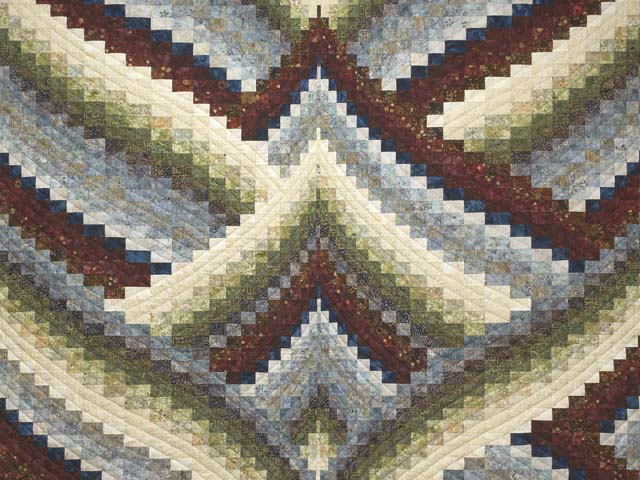King Hand Painted Lightning Strikes Bargello Quilt Photo 3