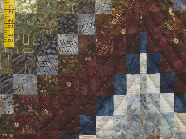 King Hand Painted Lightning Strikes Bargello Quilt Photo 6