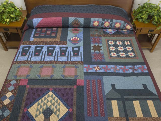 Almost Amish Sampler Quilt Photo 1