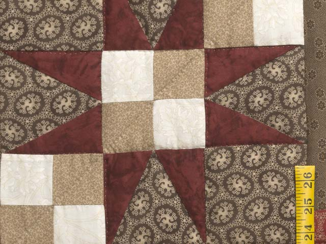 King Brown and Red Captains Quilt Photo 5