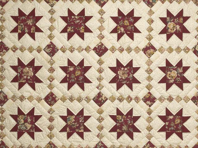 Red Gold and Cream Cross Country Quilt Photo 3