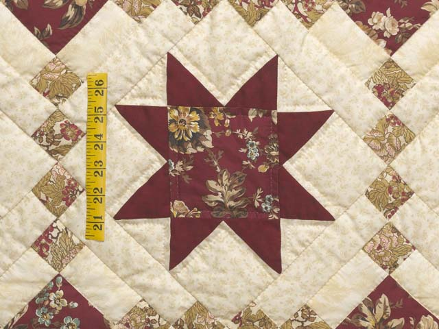 Red Gold and Cream Cross Country Quilt Photo 5