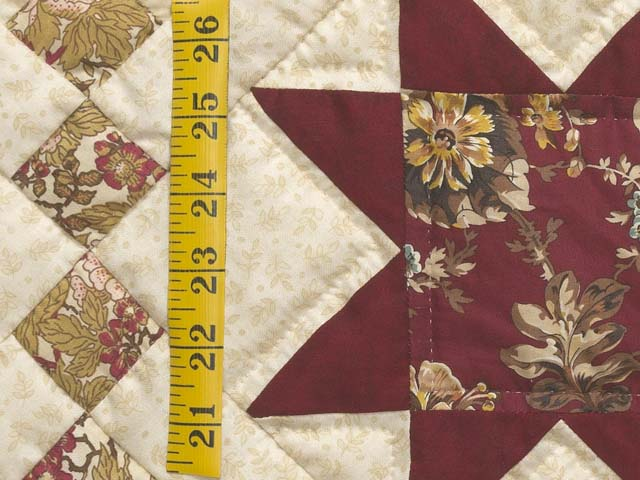 Red Gold and Cream Cross Country Quilt Photo 6