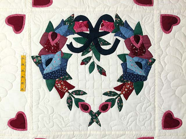 Heart Wreaths Applique Quilt Photo 5