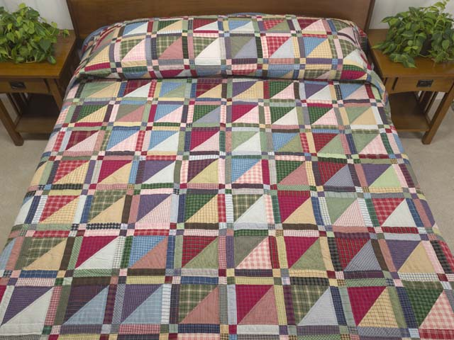 Plaid Homespun Squares Quilt Photo 1